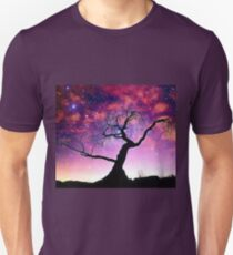 Nature Galaxy Nebula Tree Unisex T-Shirt