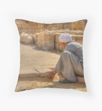 One Brick At A Time Throw Pillow