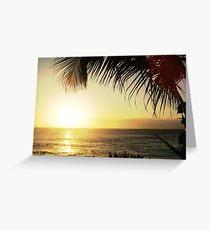 Coucher de soleil Greeting Card