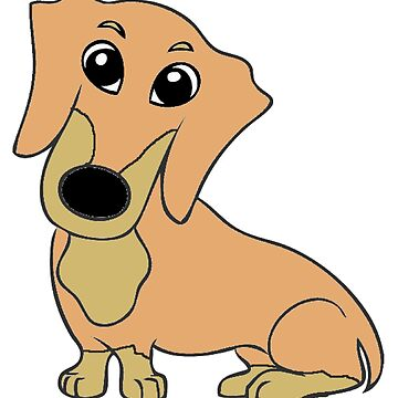 dachshund fawn and tan cartoon by marasdaughter