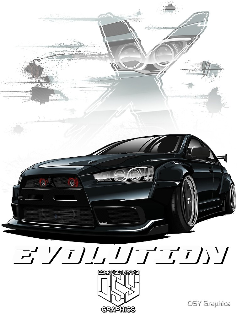 Lancer Evolution X (Black)  by osmancetinyapic