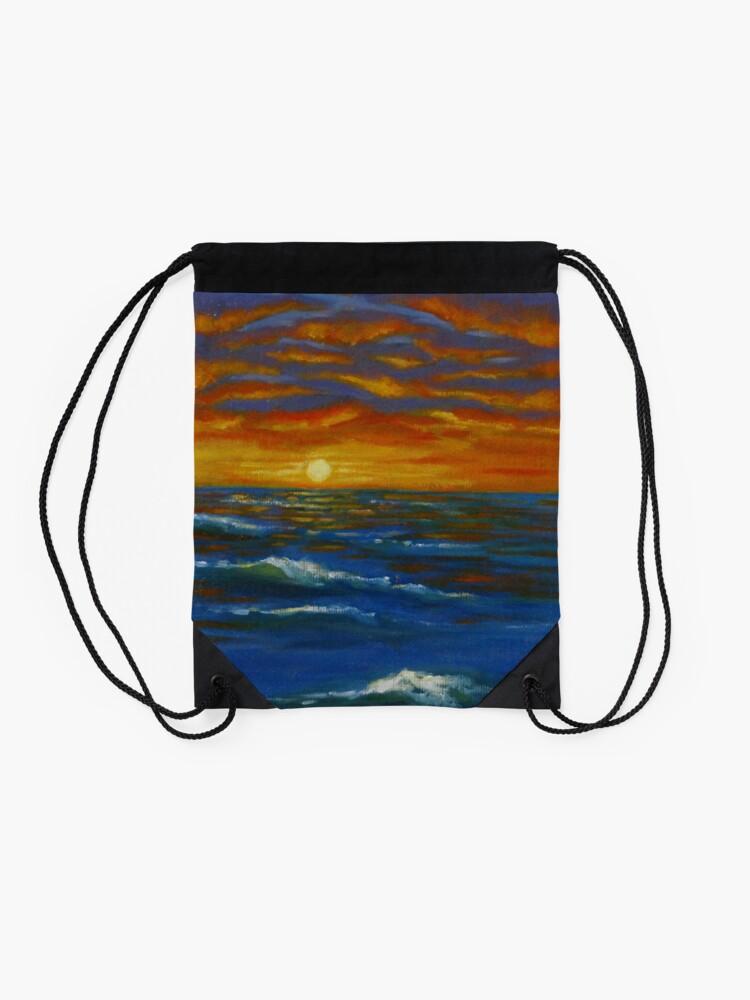 Alternative Ansicht von Sonnenuntergang Ozean Turnbeutel