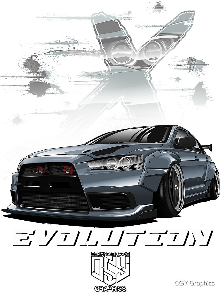 Lancer Evolution X (Gray) by osmancetinyapic