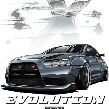 Lancer Evolution X (Gray) by osmancetinyapic
