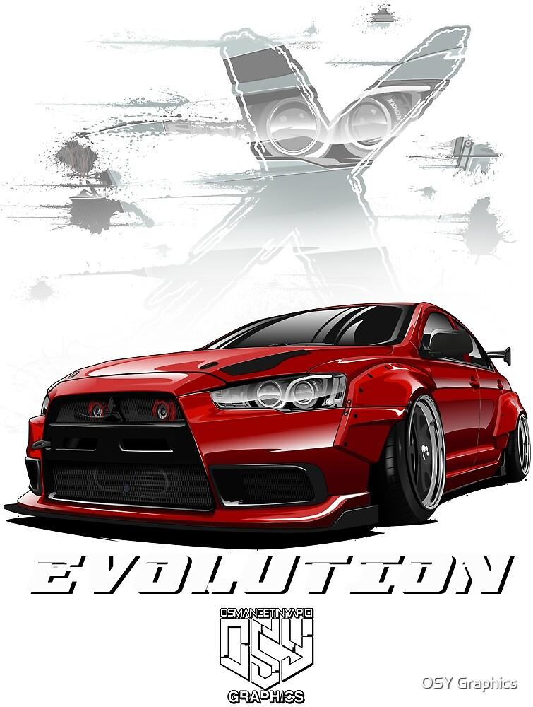 Lancer Evolution X (Red) by osmancetinyapic