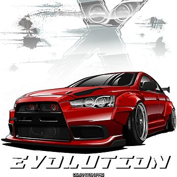 Lancer Evolution X (Red) by osmancetinyapic