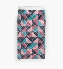 Arabesque Mosaic - Pink and Turquoise Duvet Cover