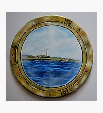 """Sailing past Scattery Island, Ireland"" - oil painting Photographic Print"