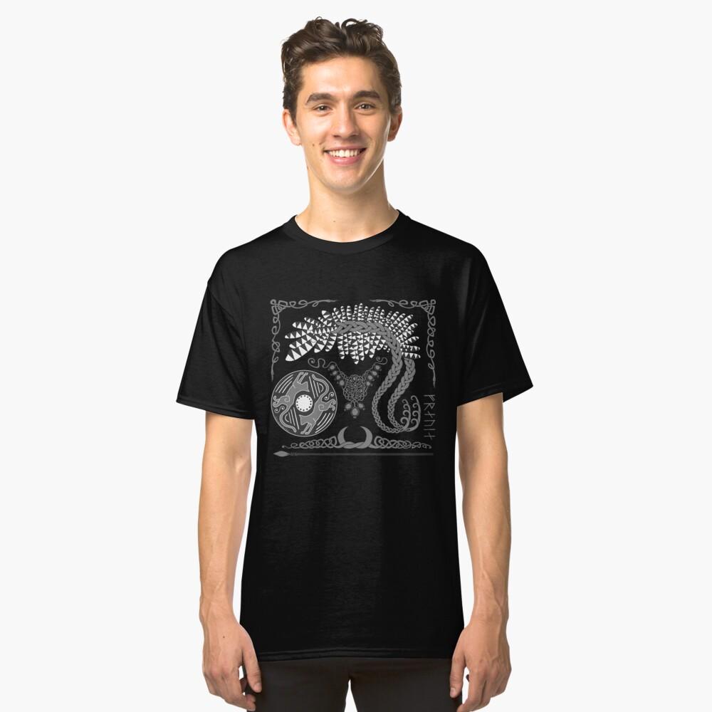 Freyja - Grey Classic T-Shirt Front