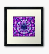 Purple Squidgy Bits Framed Print