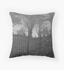 Foggy Graveyard Throw Pillow