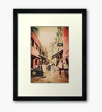 Hardware Lane, Melbourne Australia  Framed Print