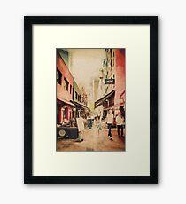 Hardware Lane, Melbourne Australia  Framed Print