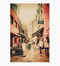 Hardware Lane, Melbourne Australia  (digital painting) Photographic Print