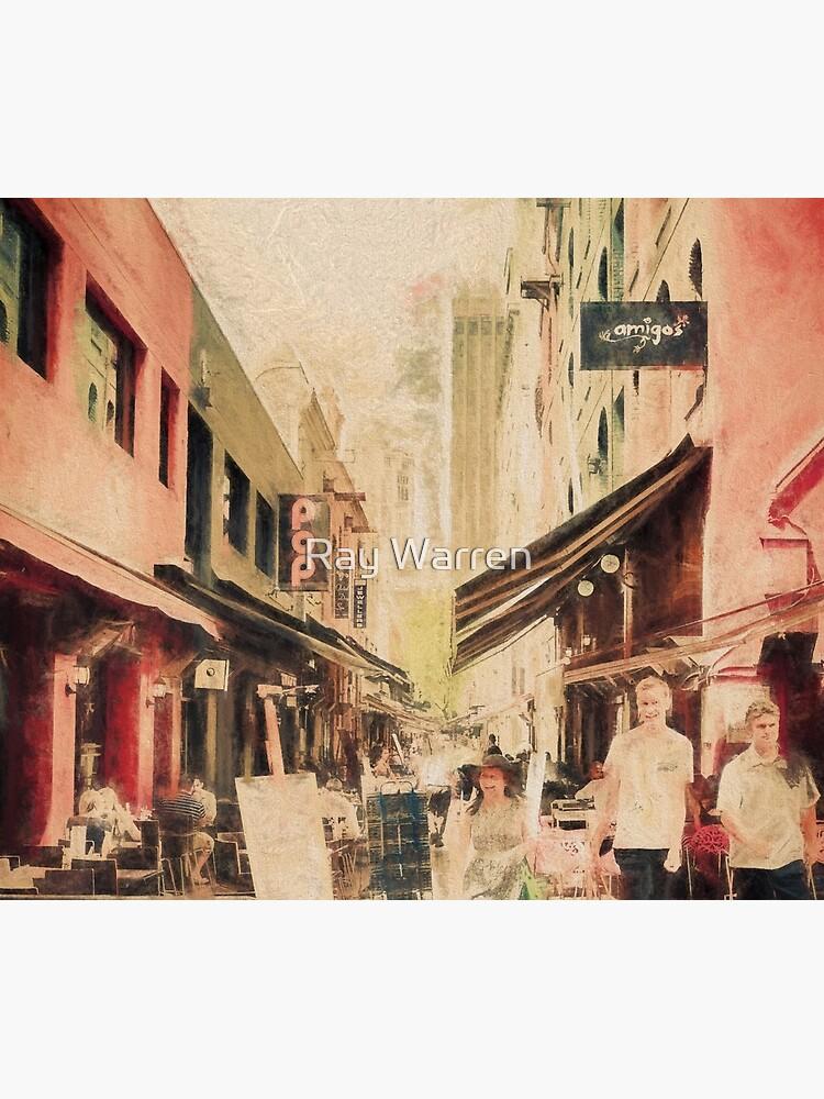 Hardware Lane, Melbourne Australia  (digital painting) by RayW