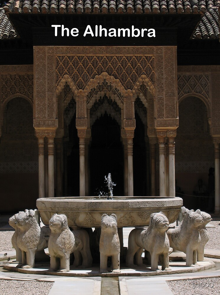 Lion statue fountain, Alhambra, Granada, Spain by ljm000
