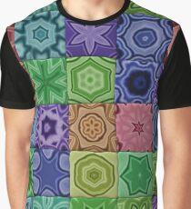 Grandmas Quilt - Vintage Rainbow Graphic T-Shirt