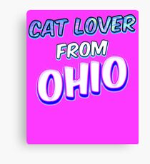 Dog Lover From Ohio Canvas Print
