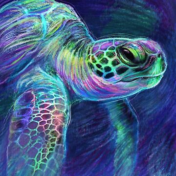Sea Turtle Underwater Surf by carissalapreal