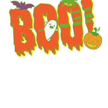 Boo Funny Halloween Costume Shirts  by CheerfulDesigns