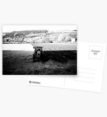 Black and White Tractor Postcards