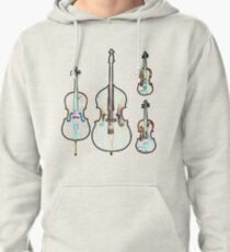 The Four Strings - Violin, Viola, Cello, Bass Pullover Hoodie