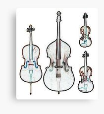 The Four Strings - Violin, Viola, Cello, Bass Canvas Print