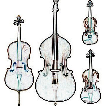 The Four Strings - Violin, Viola, Cello, Bass by Thornepalmer