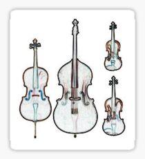 The Four Strings - Violin, Viola, Cello, Bass Sticker