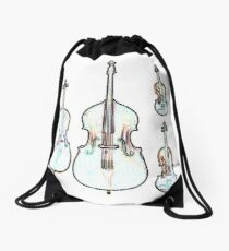 The Four Strings - Violin, Viola, Cello, Bass Drawstring Bag