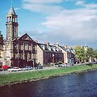 Old church across river Ness at Inverness Scotland 19840919 0002M by Fred Mitchell