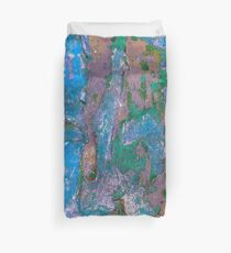 Layers of Peeling Paint Color  Duvet Cover
