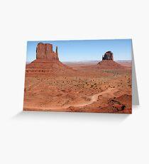 The Mittens, Utah, USA Greeting Card