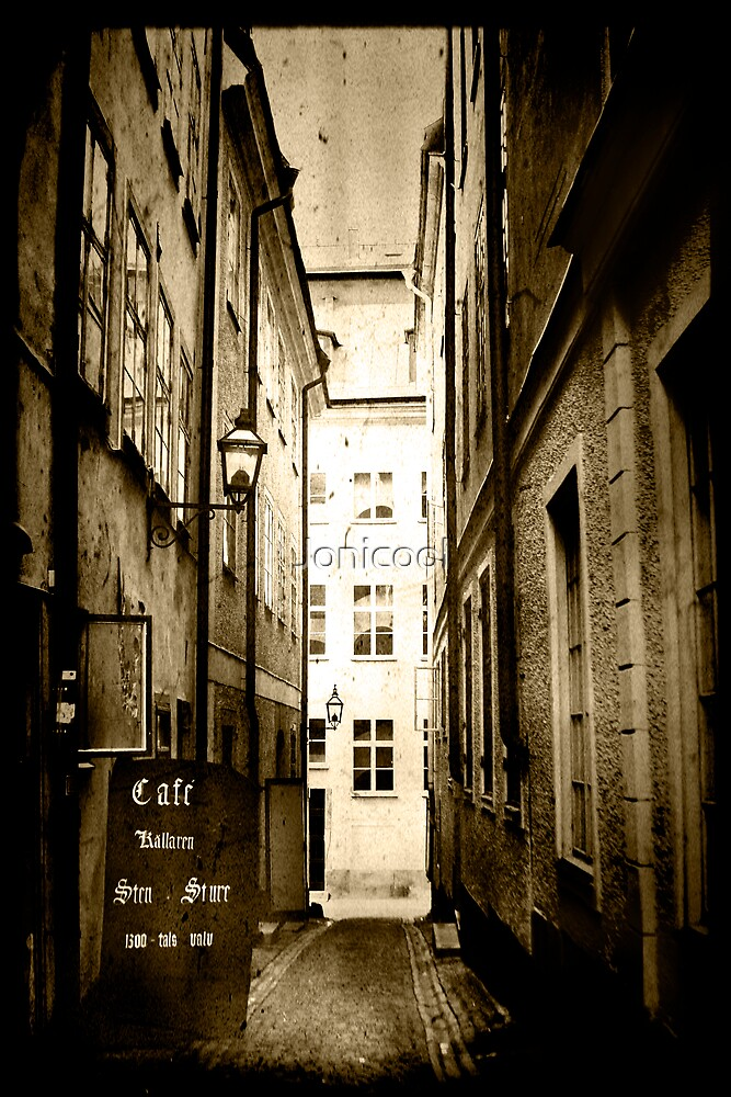 Stockholm - Alley Cafe by Jonicool