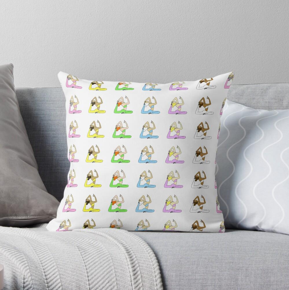 Yoga Rainbow  Throw Pillow