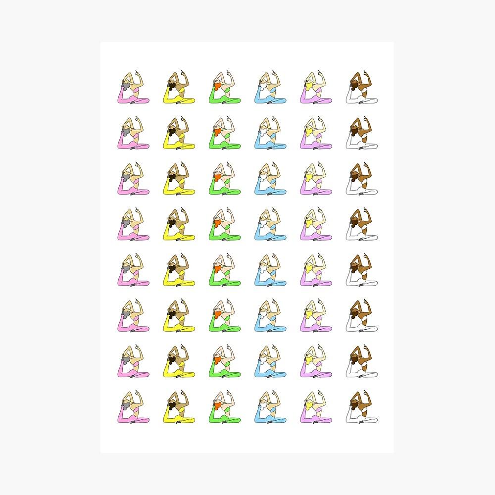 Yoga Rainbow  Photographic Print