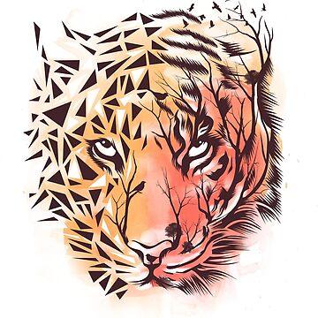 Geometric Tiger by dandingeroz