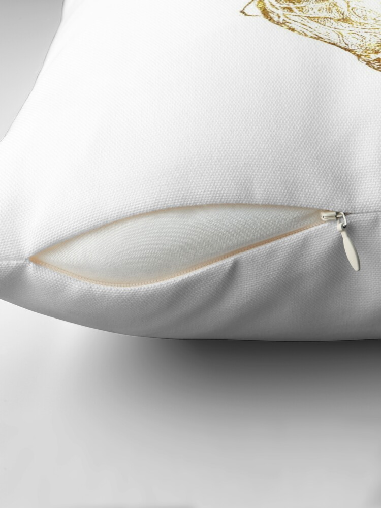Alternate view of Heart of Gold Throw Pillow