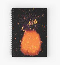 Pineapple fruit burning Spiral Notebook
