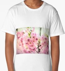 vintage cherry blossom Long T-Shirt