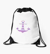 Stripey Anchor  Drawstring Bag