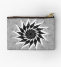Gray Kaleidoscope Art 19 Studio Pouch