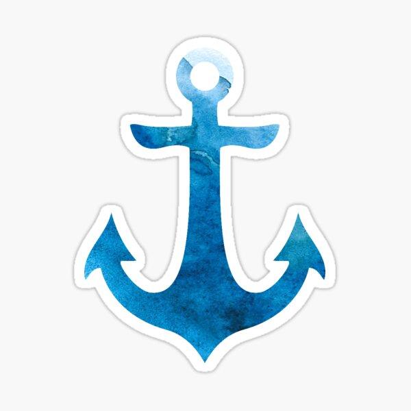 Ocean Blue Anchor Sticker