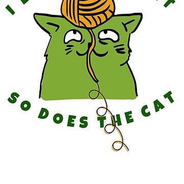 I Love To Knit - So Does The Cat by TheKitch