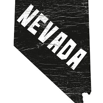 Nevada Home Vintage Distressed Map Silhouette by YLGraphics