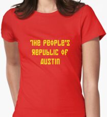 The People's Republic of Austin (yellow letters) Women's Fitted T-Shirt