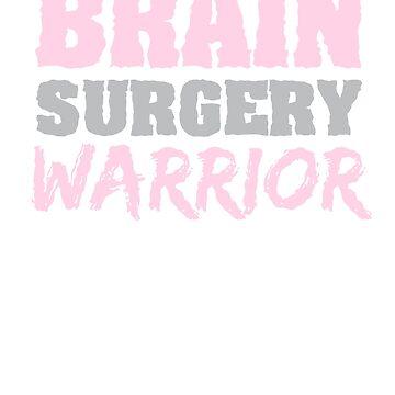 Brain Surgery Warrior Brain Tumor Awareness Gray Ribbon  by CheerfulDesigns