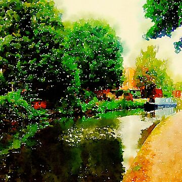 Along the canal...Nottingham in Watercolor by douglasewelch