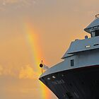 Rainbow at Sea by Marylou Badeaux