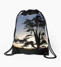 Sunset Pine Drawstring Bag